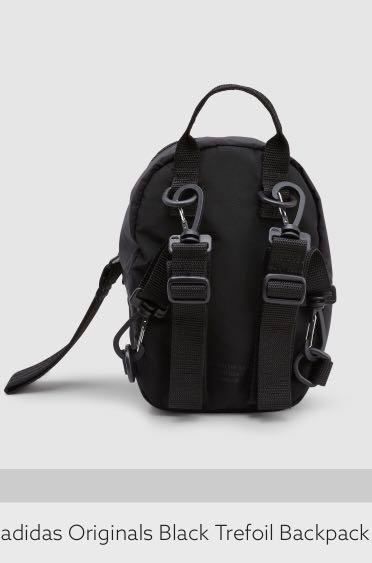 Adidas Originals Black Trefoil mini backpack
