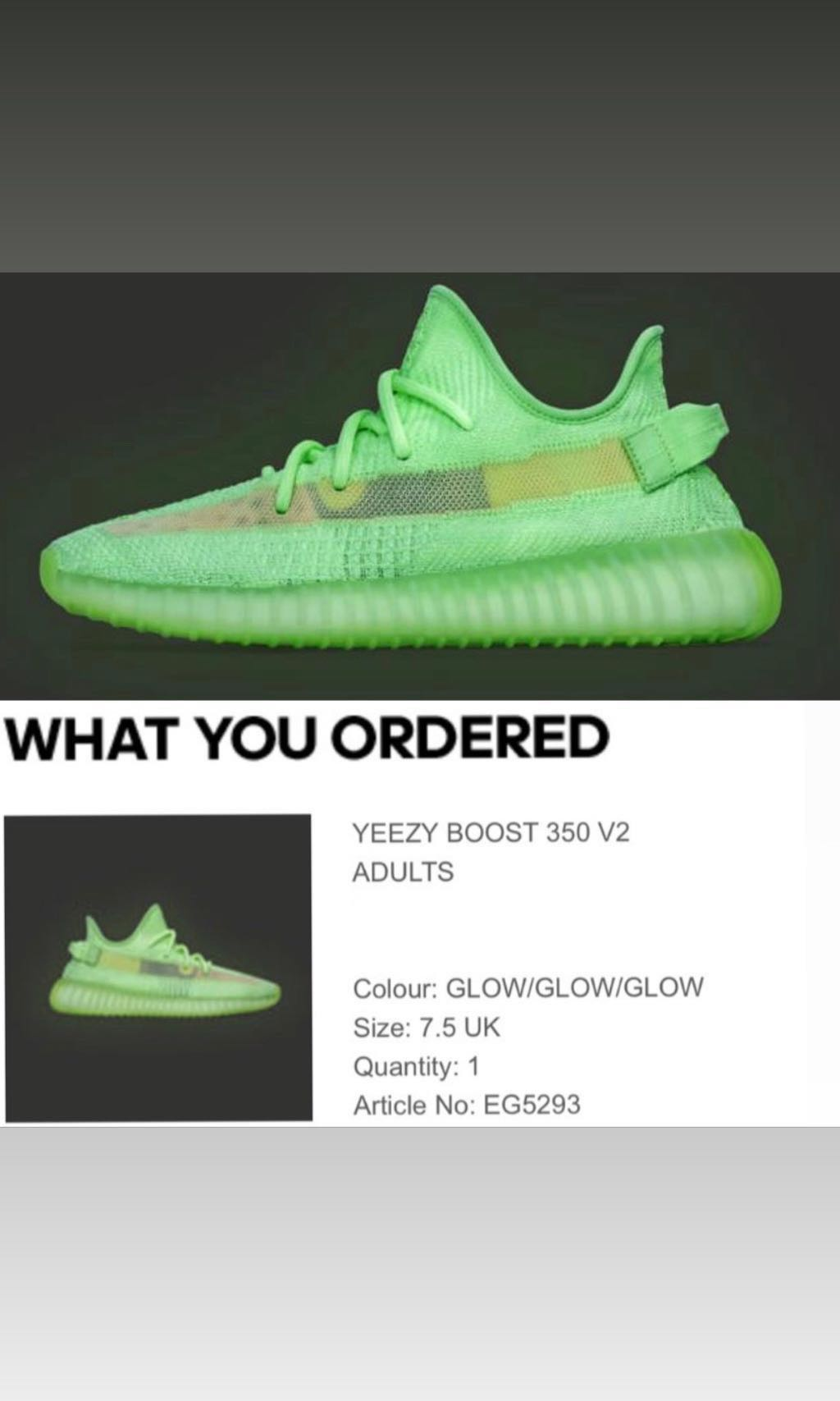 1f26186c adidas Yeezy Boost 350 V2 GID US 8, Men's Fashion, Footwear, Sneakers on  Carousell