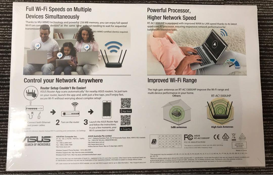 ASUS RT-AC1300UHP Wireless AC1300 Dual Band Gigabit Router