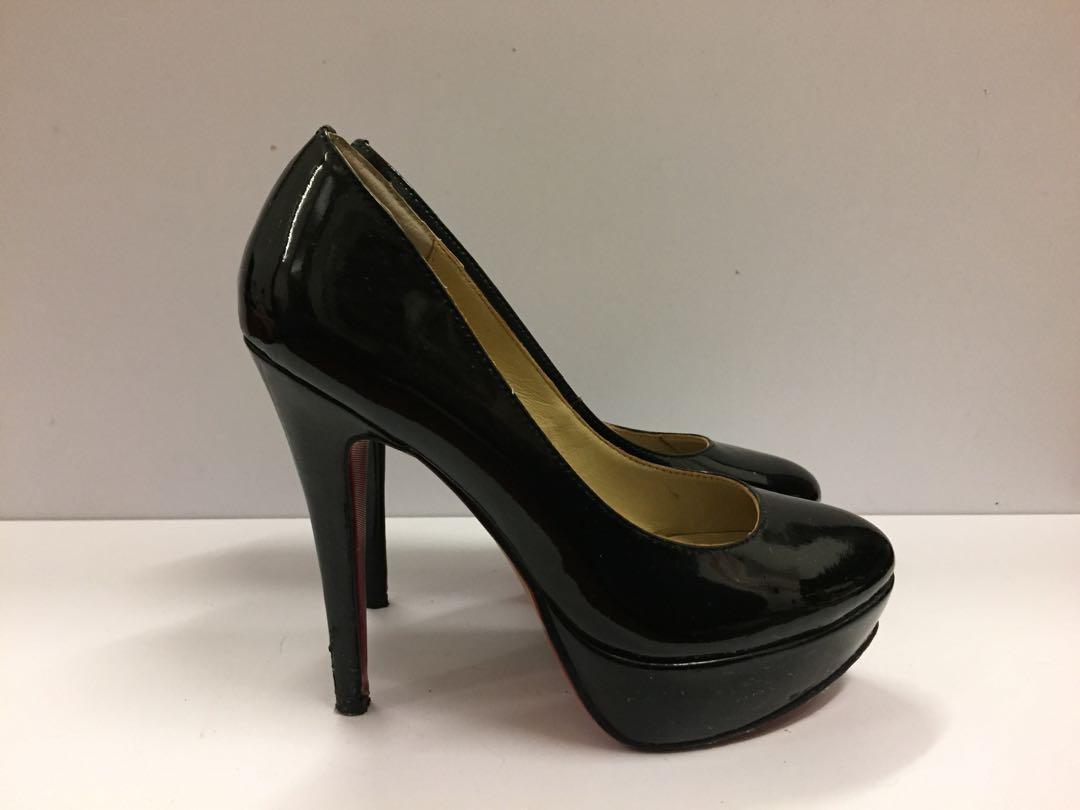 Black super high heels 6 inches 黑色超高防水台高踭鞋