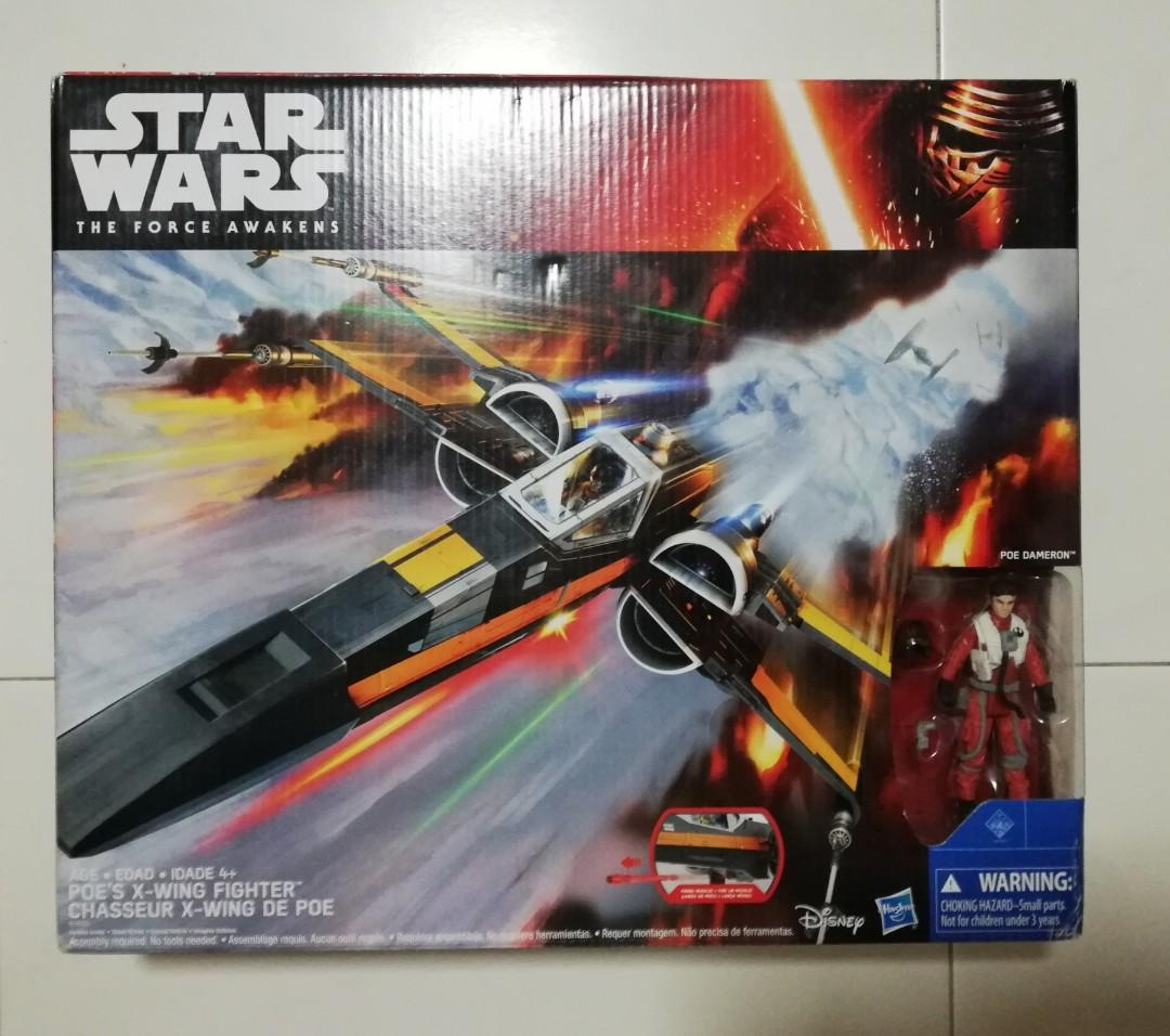 Disney Star Wars The Force Awakens POE DAMERON X Wing 3.75