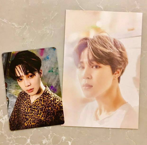 BTS OFFICIAL PHOTOCARDS 2 PC MIX SET [2018 BTS EXHIBITION & BIGHIT] (JIMIN)