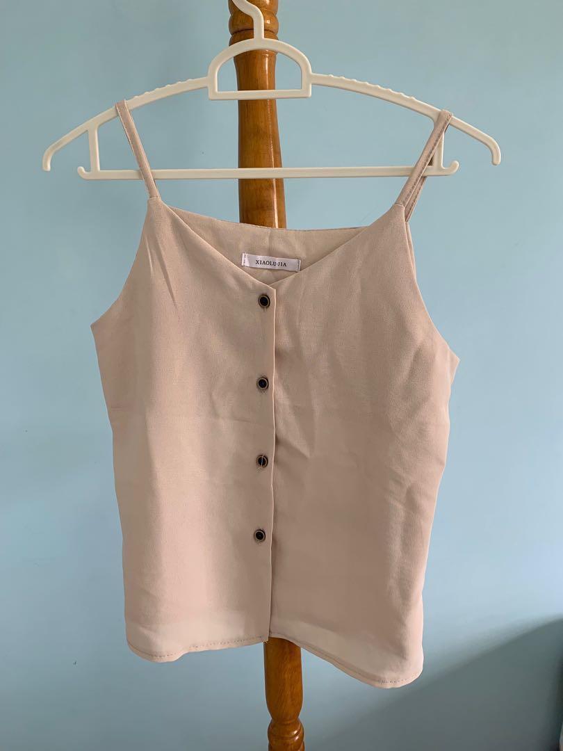 Button down cami top