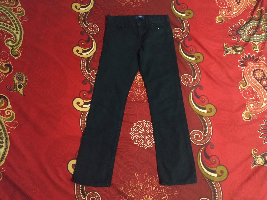 celana panjang old navy jeans basic skinny wash black ori