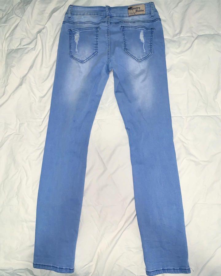 Country Denim Australia Ripped Blue Jeans - AU Size 8
