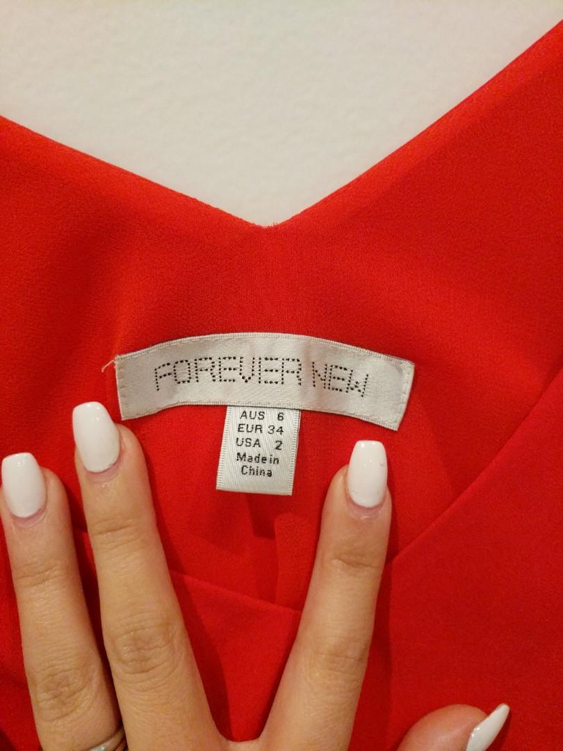 Forever New Size 6 Red Cami