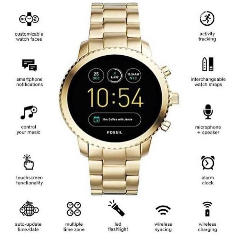 Fossil#FTW4010Gen 3 Smartwatch Explorist Gold Stainless Steel , Diameter 4.6CM