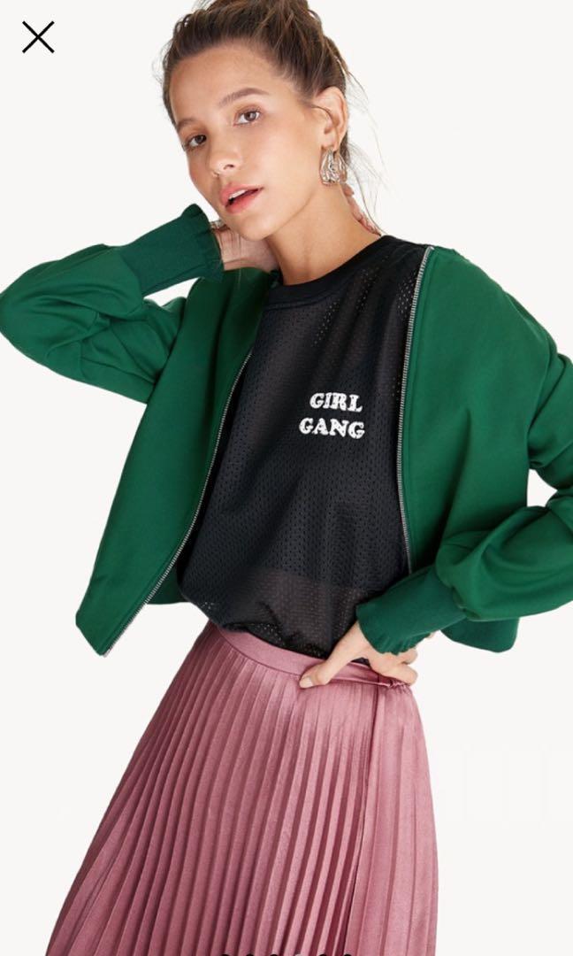 Girl Gang sre through oversized shirt