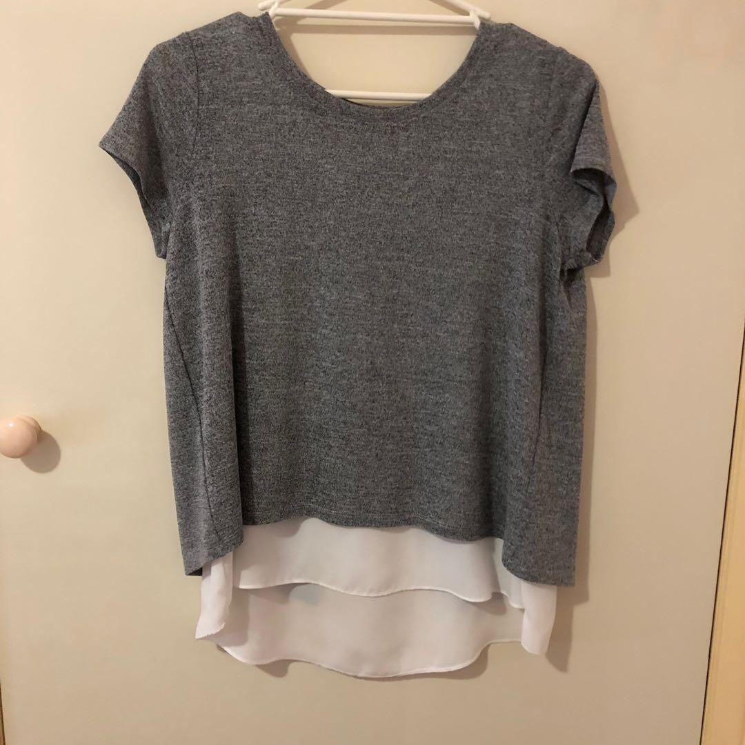 Grey/white tshirt