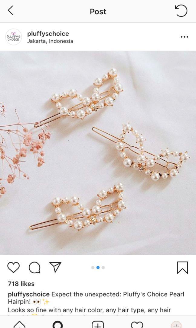Hair clip Pearl Pluffy's Choice