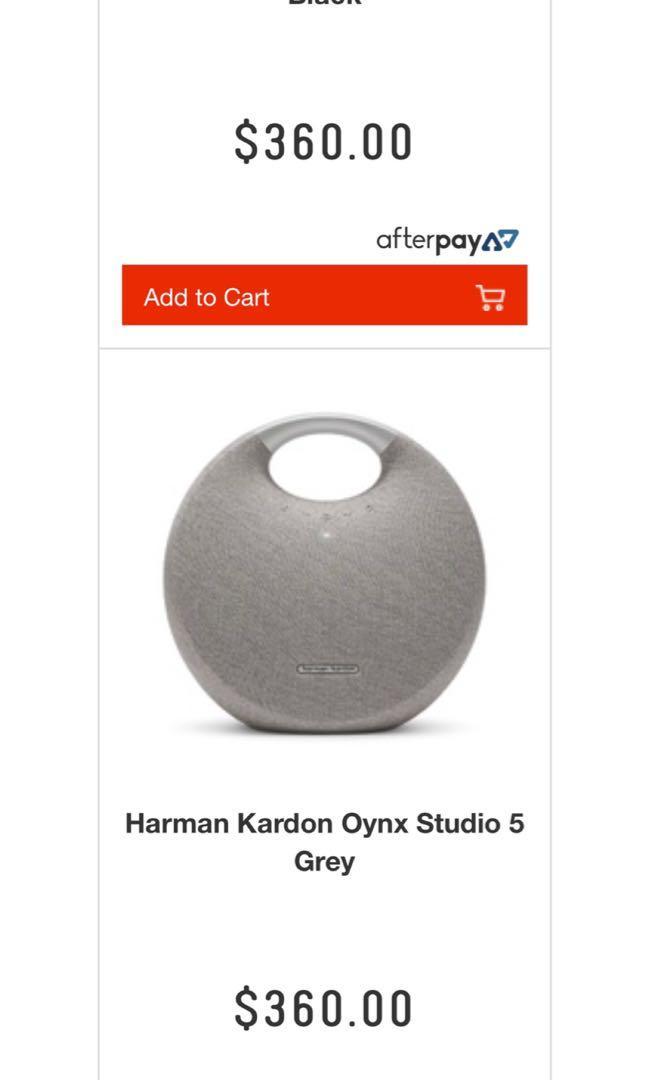 Harman Kardon Onyx Studio 5 Grey Portable Wireless Speaker - Brand New In Box RRP $360