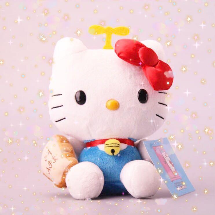 Hello Kitty X Doraemon Hello Kitty Bread Plush Toy