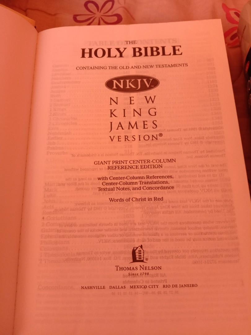 Holy Bible Giant Print Reference