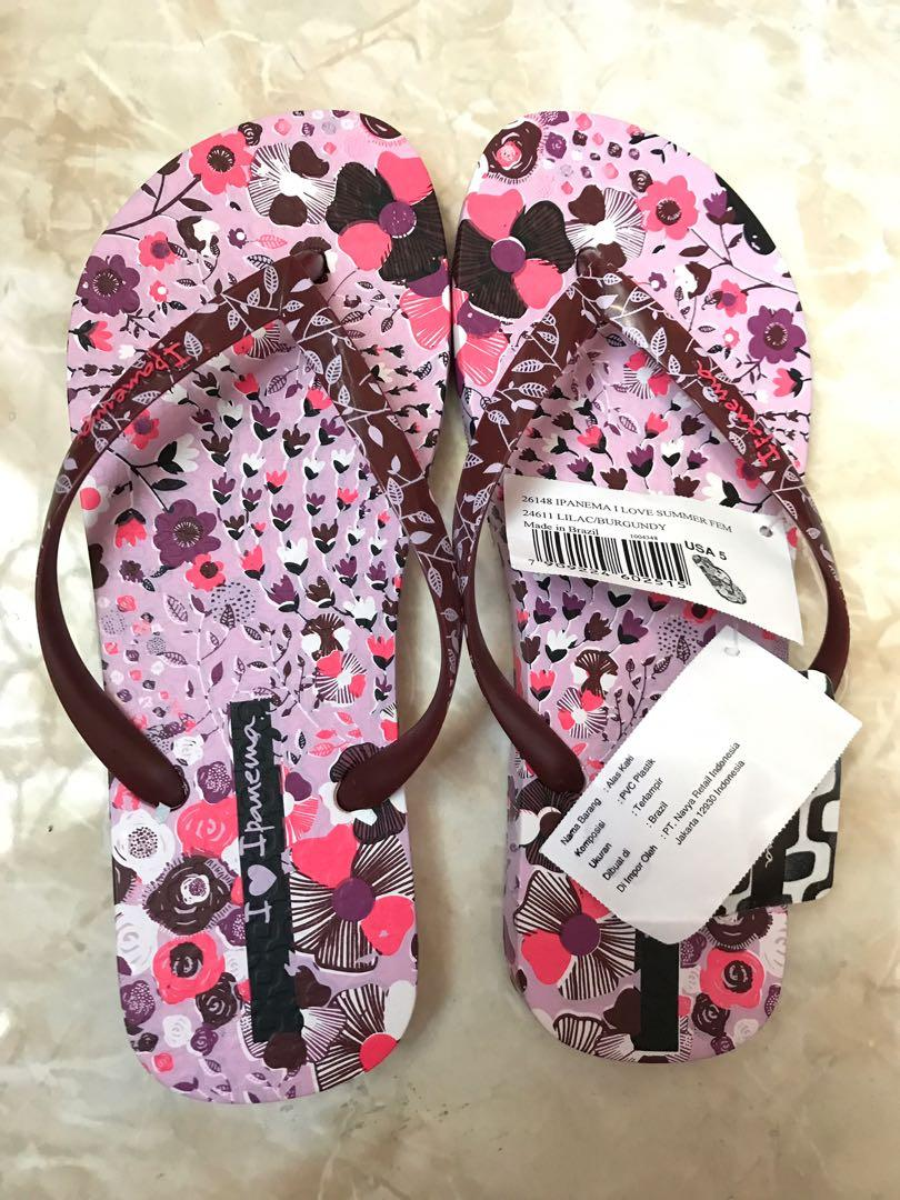 Ipanema sandal pink burgundy
