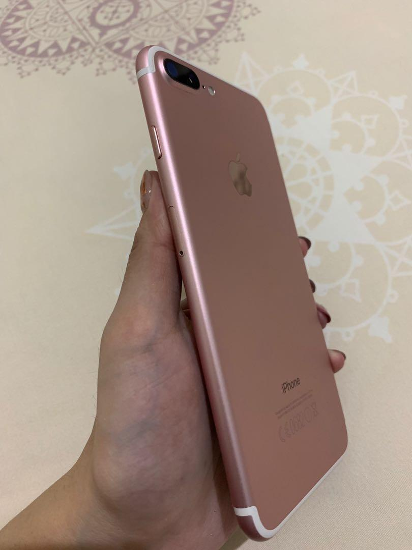iPhone 7+ 256 GB Warna Rosegold Limited edition mulus 100%