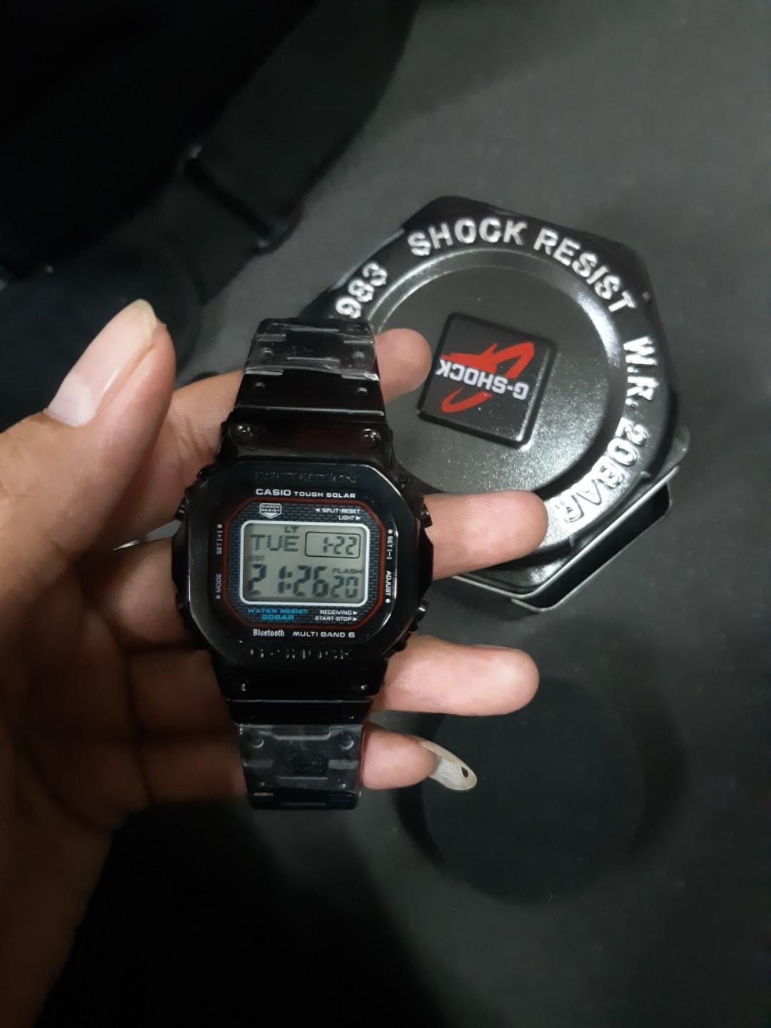 Jam G-shock GMWB-5000 full metal Silver special Anniversary g shock