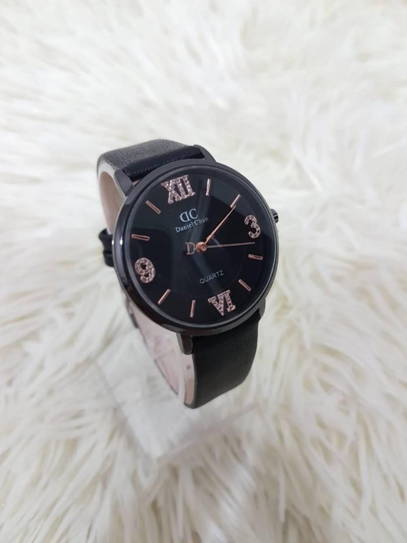 Jam tangan BLINK DC WATER  Tali kulit tahan air plat timbul diameter 4cm 0.15kg