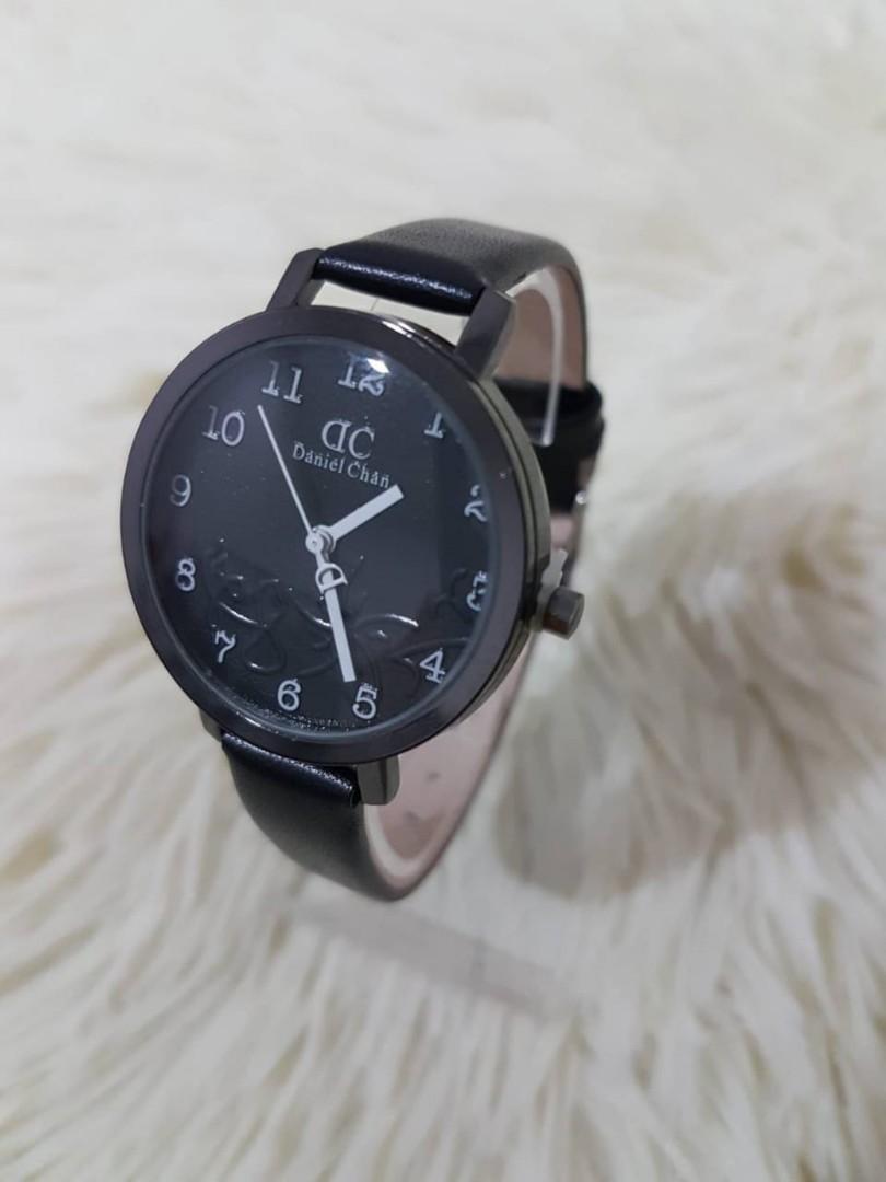 Jam tangan KARLIN DC WATER  Tali kulit tahan air plat timbul diameter 4cm 0.15kg