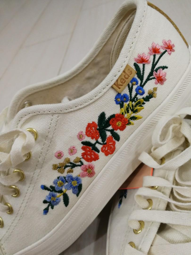 Keds x Rifle Paper Co Embroidered