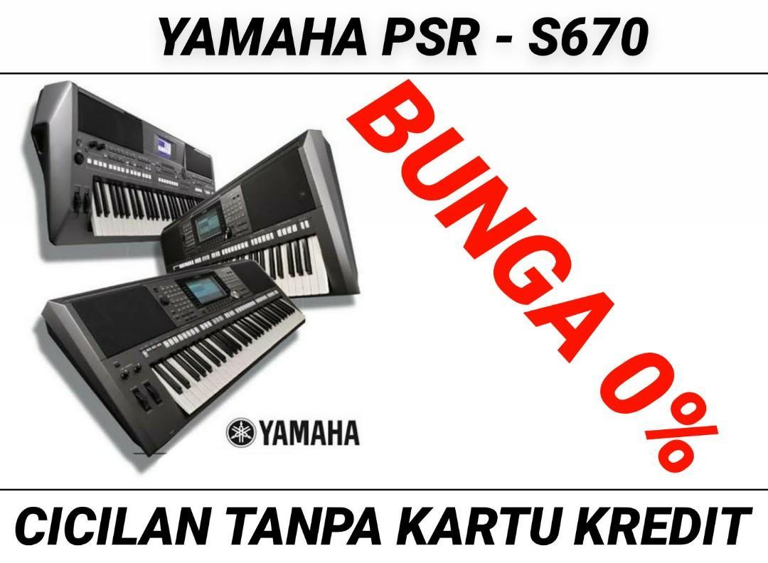 KEYBOARD YAMAHA PSR -S670 Bisa Kredit Tanpa CC Bunga 0%