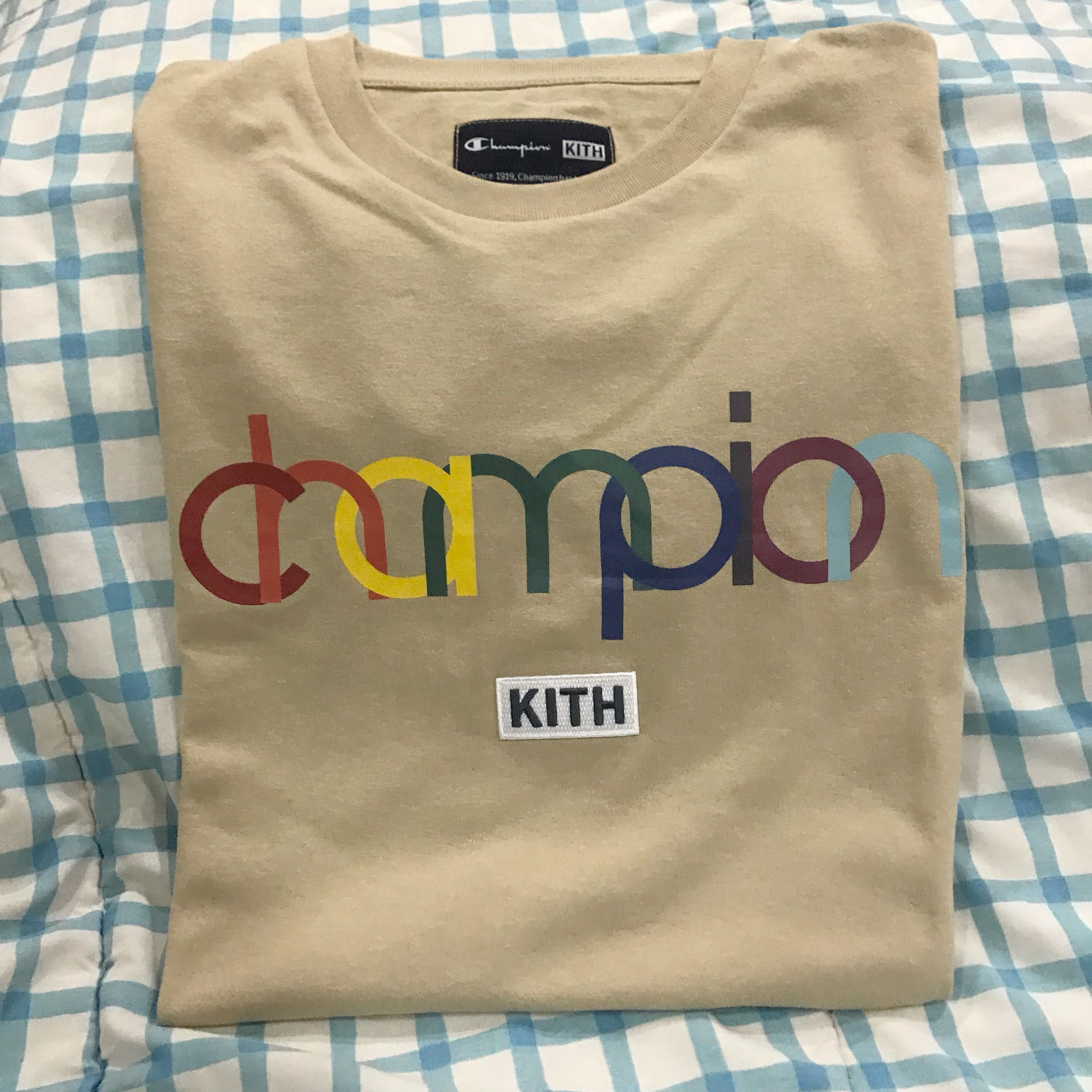 9fca3bfb Kith X Champion Rainbow Tee, Men's Fashion, Clothes, Tops on Carousell
