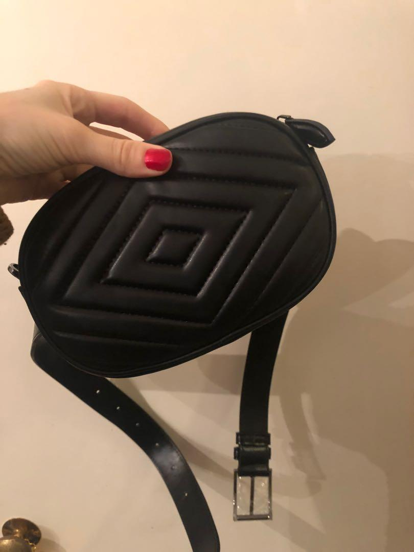Leather convertible bum bag