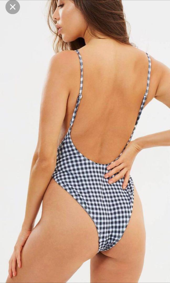 Lioness Gingham Bodysuit/ one piece