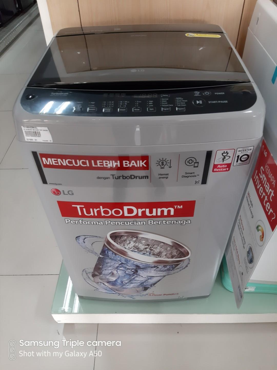 Mesin cuci LG 8Kg Cicilan Tanpa Kartu Kredit Tanpa Dp Free 2Kali Angsuran