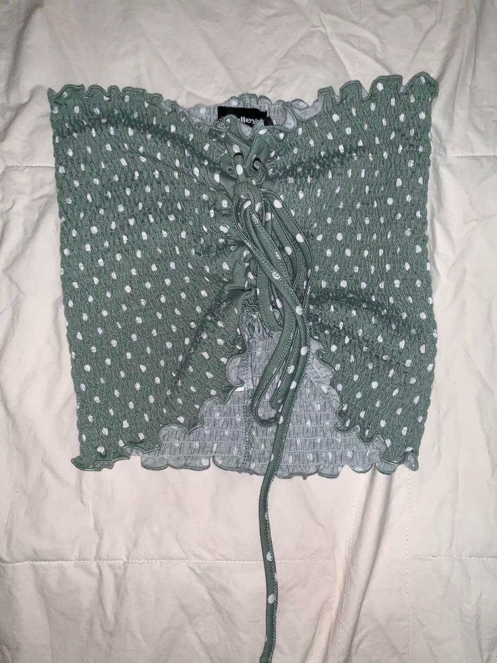 Miss Valley (Valley Girl) Mint Green Spotted Crop - AU Size 8