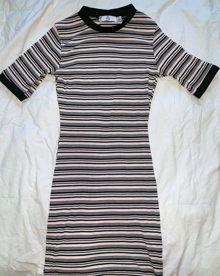 Missguided Stripe Bodycon Dress in Multi - AU Size 8