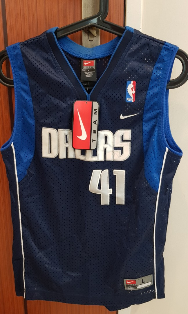 buy online 4b67c 19cb2 NBA Jersey dirk nowitzki basketball youth large