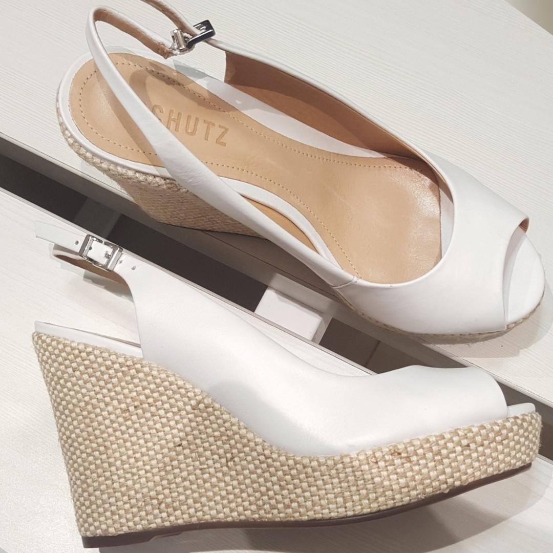 New - Schutz wedges (white)