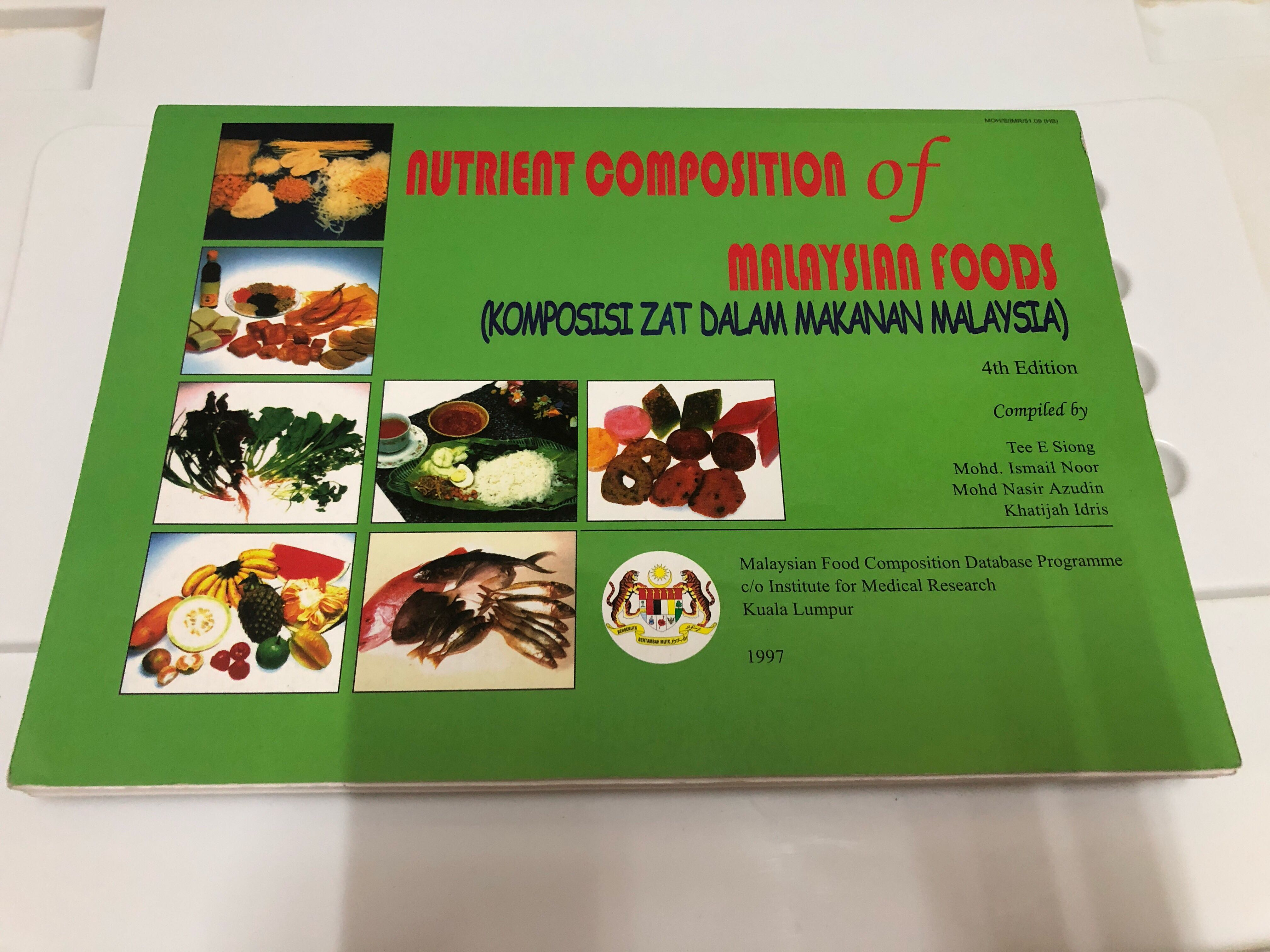 Nutrient Composition Of Malaysian Foods Nutrition Students Textbooks On Carousell