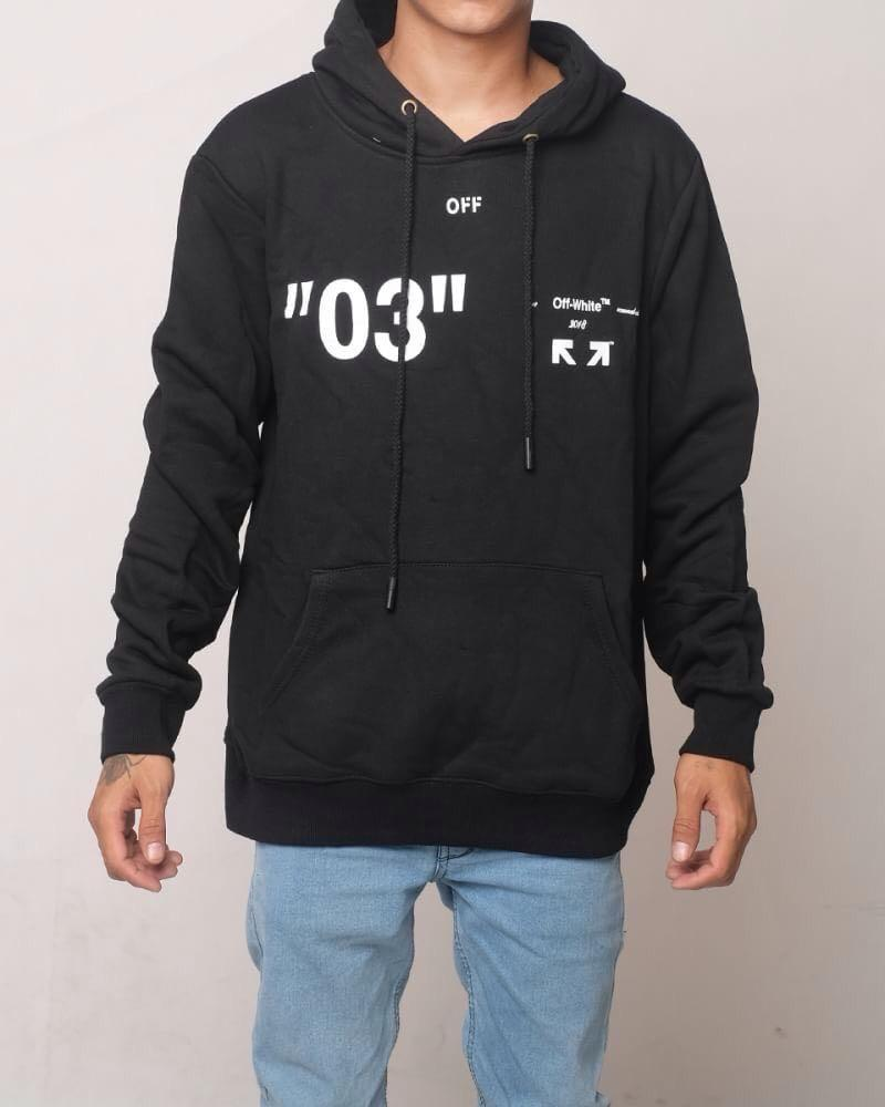 "Off-white Caravaggio Virgil Abloh 03 hoodie ""black white"""