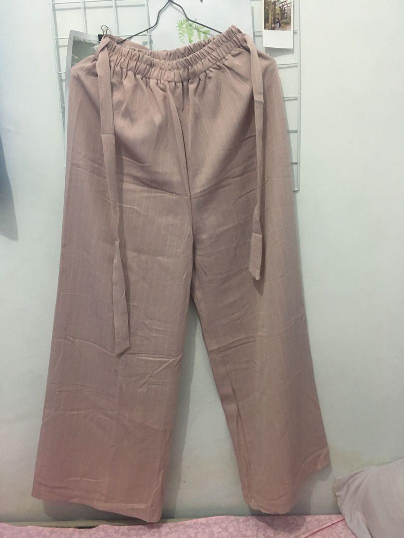 Pink Stripe Cullote