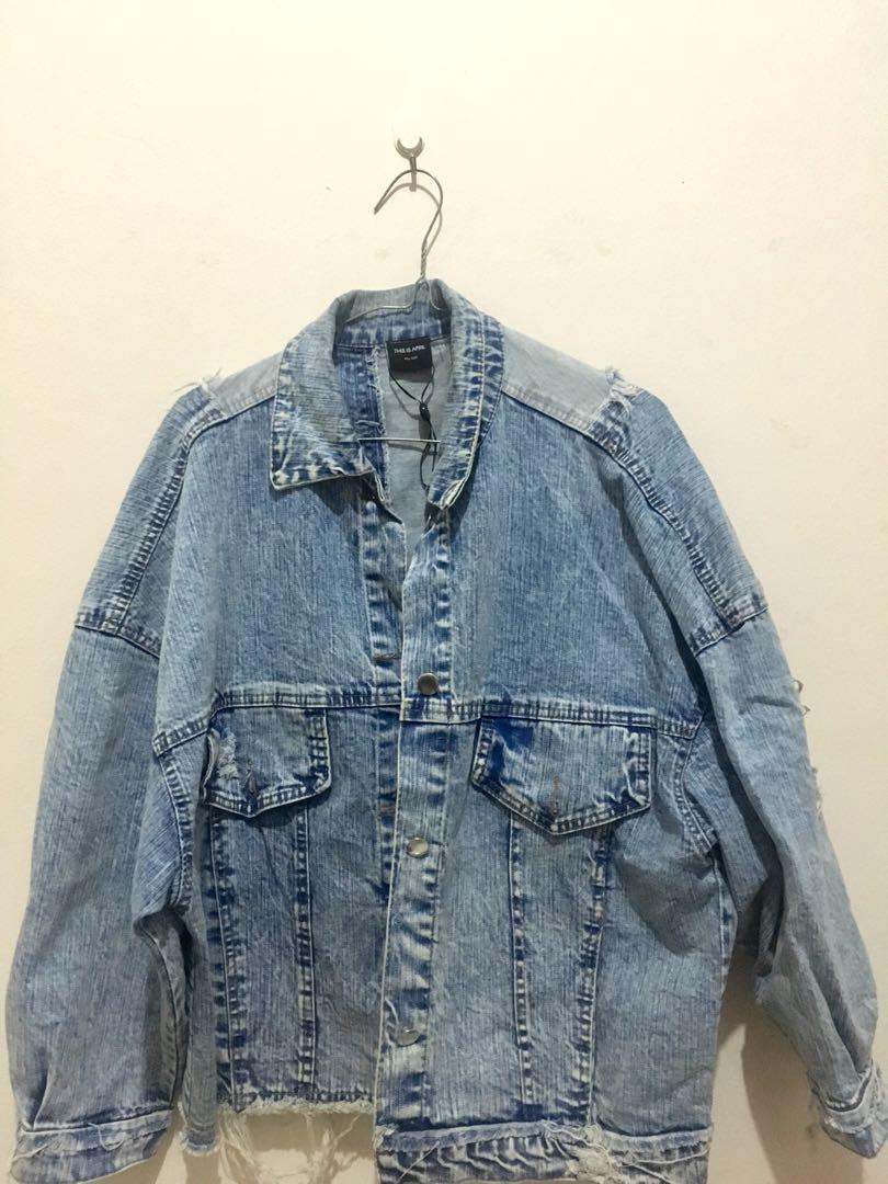 Preloved Oversize Denim Jacket by This Is April
