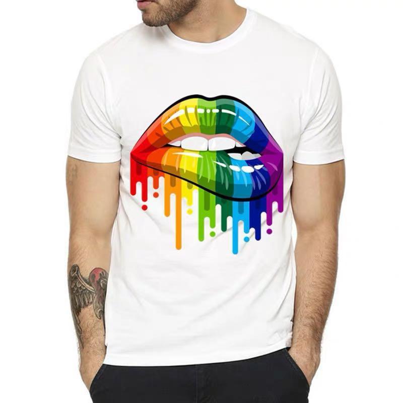 "Rainbow ""Dripping Rainbow Lips"" Tee"