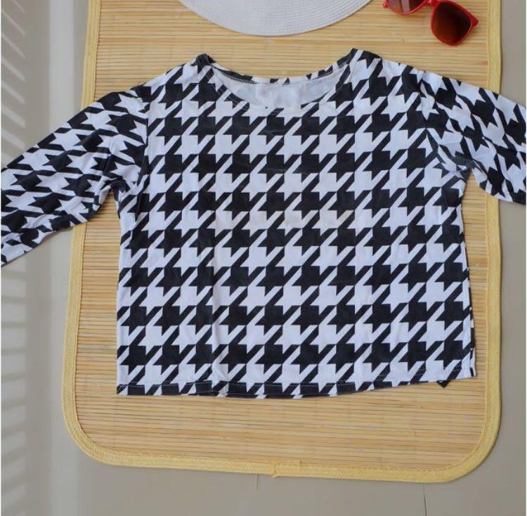 #RamadanSale Houndstooth Crop Top