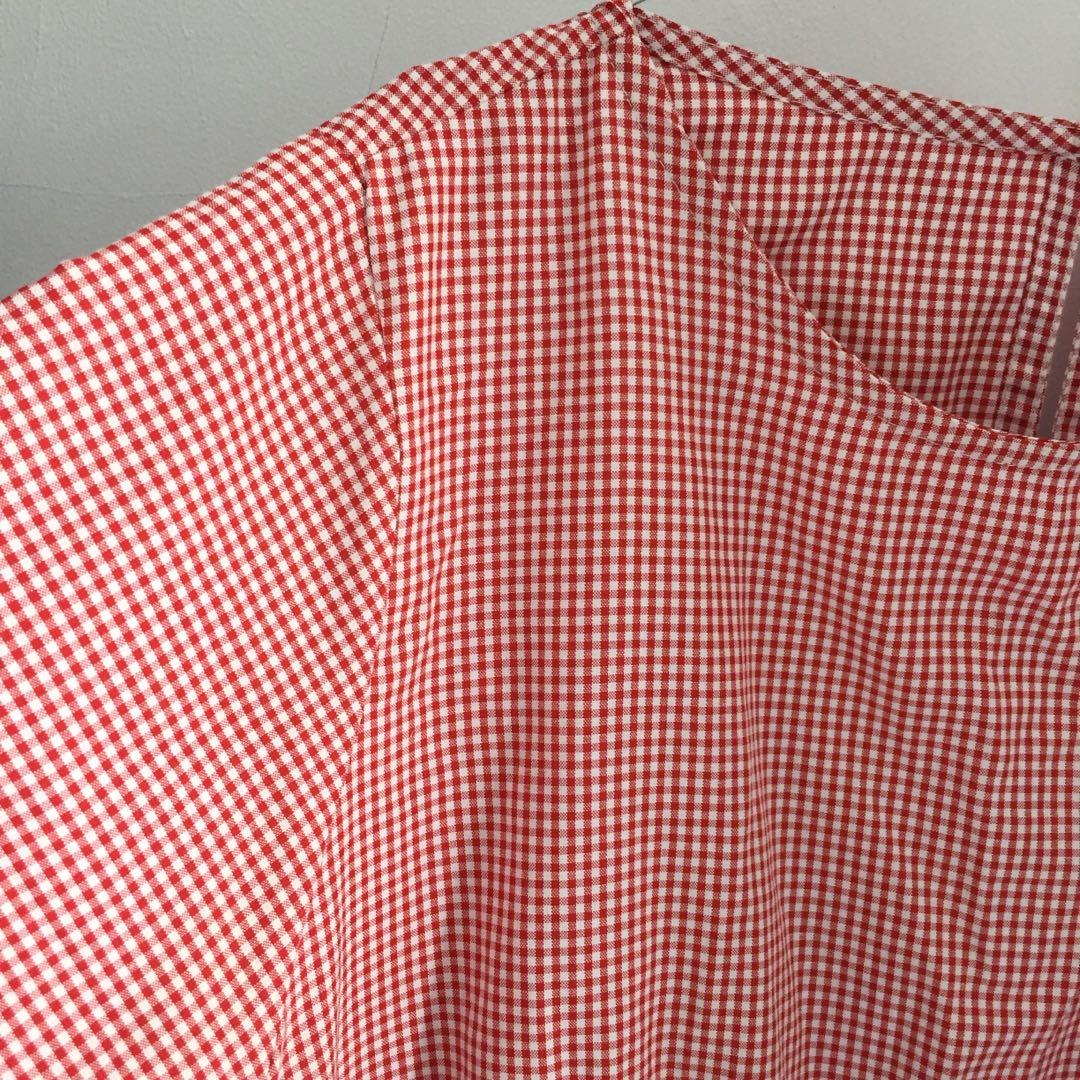 Red Gingham Blouse