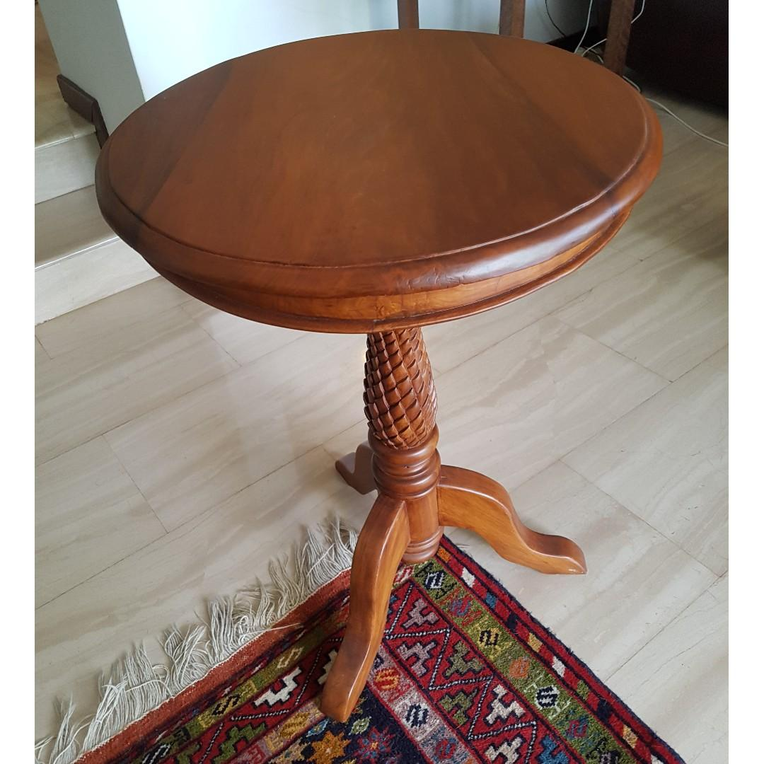 Round Wooden Coffee Table Furniture Tables Chairs On Carousell