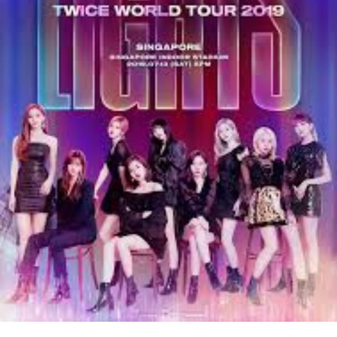 Selling Twicelights Singapore ticket (Section 231, Row 23, Seat 14)