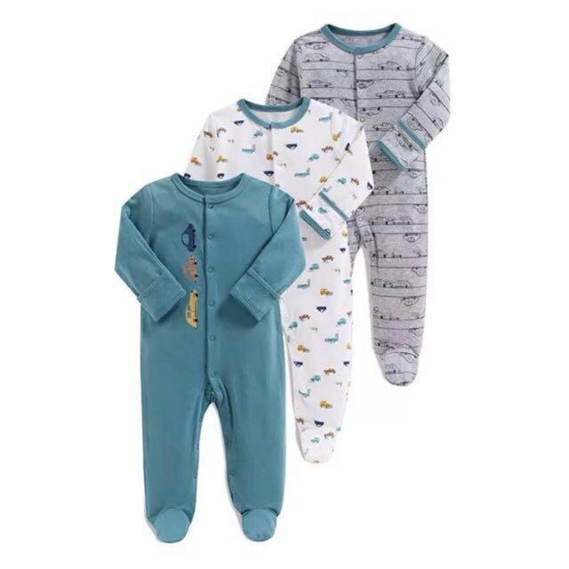 Sleepsuit 3pcs motif Car 3-6months