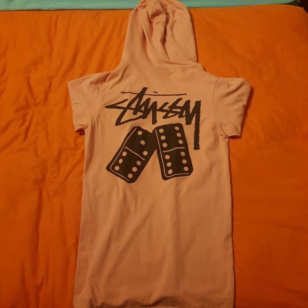 1efcdc1820 stussy domino hoodie - light pink /(9/10)