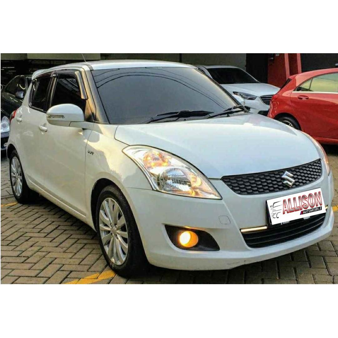 Suzuki Swift GX AT 2014 Putih Dp 60 Jt No Pol Ganjil