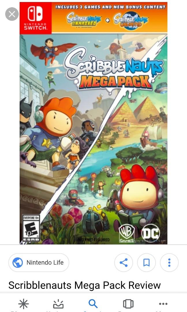 Switch Scribblenauts Mega Pack