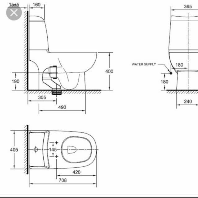 Toilet Bowl American Standard TF2324/ CP2324