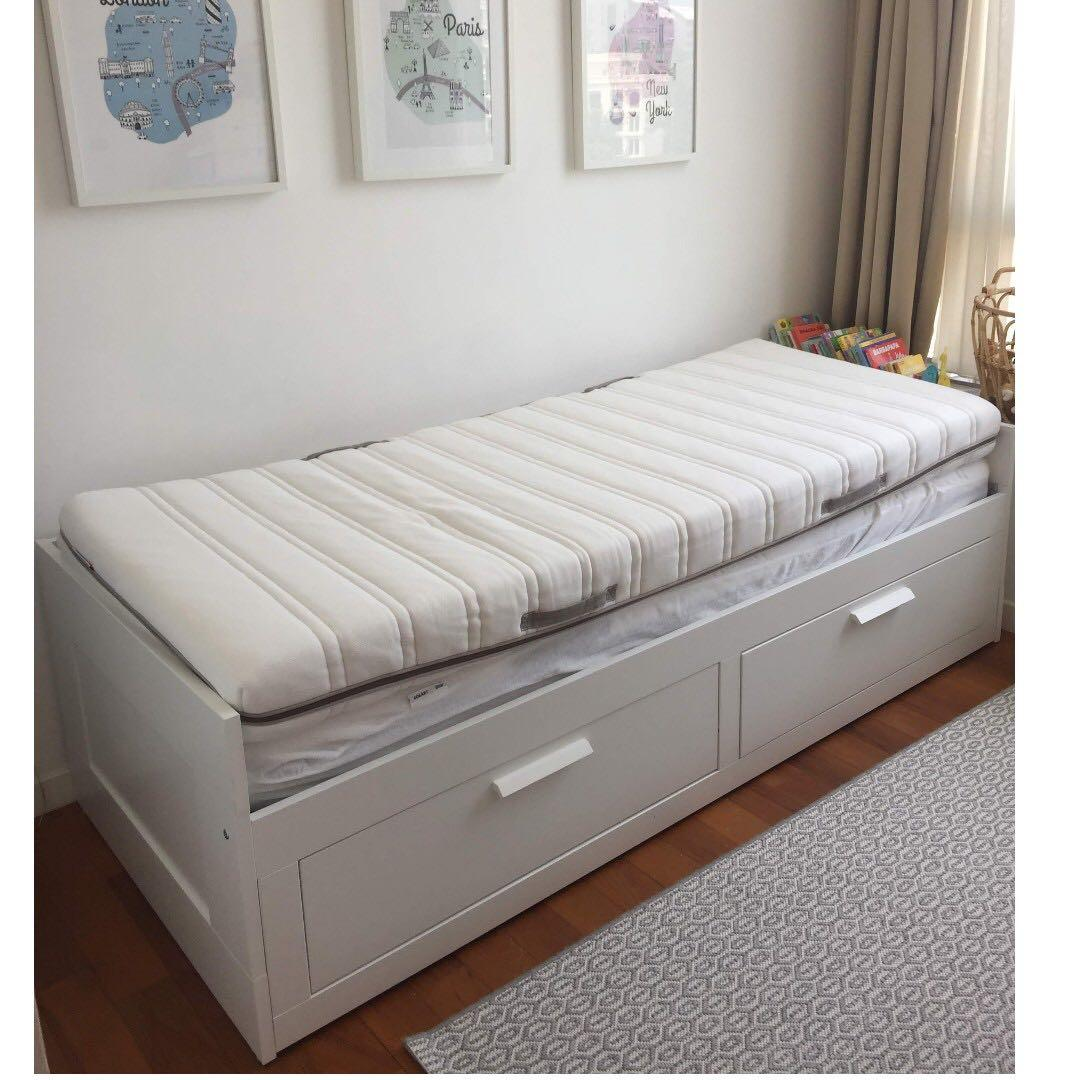 Warning Do Not Buy Brimnes Day Bed New Furniture Beds Mattresses On Carousell