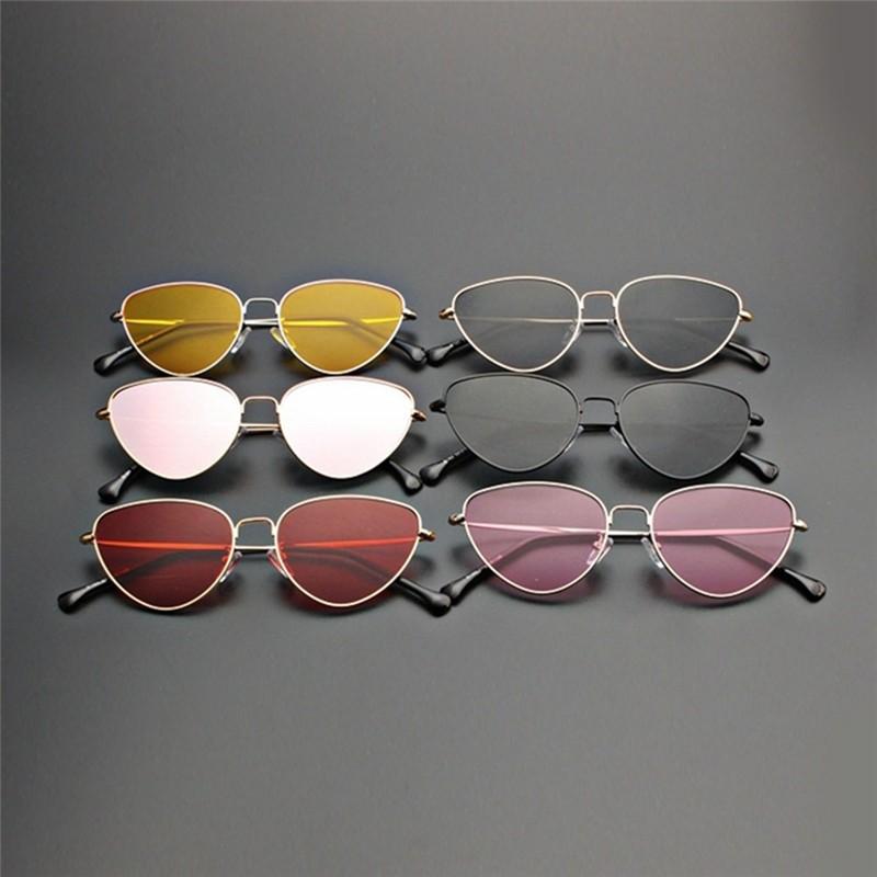 da7b83e69 Women Cat Eye Sunglasses Retro Metal Woman Ocean Mirror Sunglass UV400,  Women's Fashion, Accessories, Eyewear & Sunglasses on Carousell