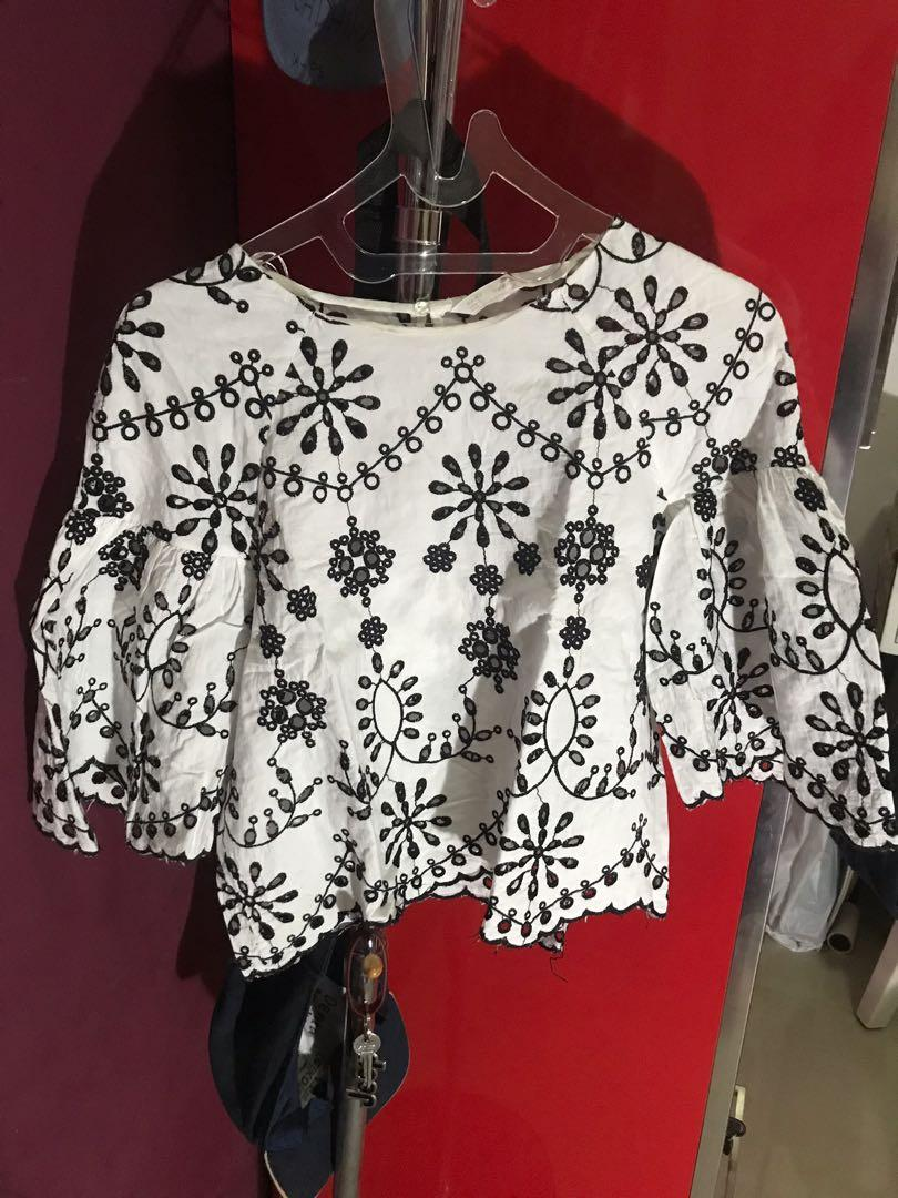 Zara blouse crop