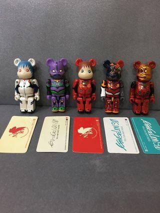 Bearbrick 100% Series EVA 5隻